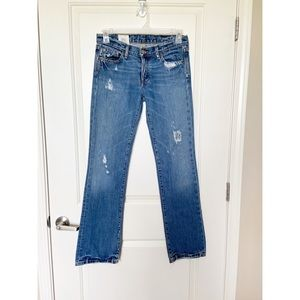 RUEHL NO 925 •Distressed Button Fly Straight Jeans